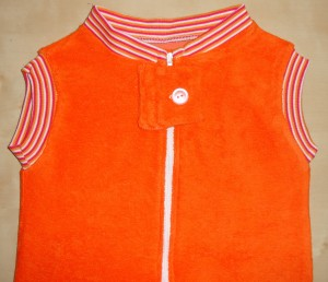 Babydecken Flexdress orange 109 gestreifft Babydecke